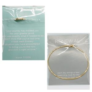 NWT O2 Gold Tear Drop Bangle